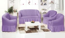 - Комплект чехлов однотонных, цвет лиловый