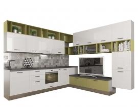 Модульные кухни - Кухня Катюша-Locatto 3000/3000 мм