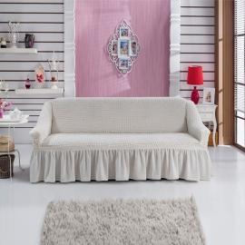 Чехлы на диваны ( 3х-местные) - Чехол на 3-х местный диван, цвет кремовый