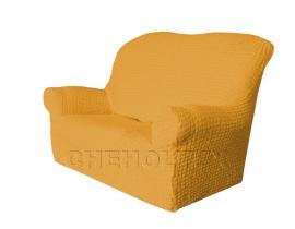 - Чехол Модерн на 2-х местный диван, цвет Горчичный