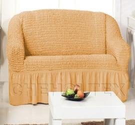 Чехлы на диваны (2х-местные) - Чехол на 2-х местный диван, цвет горчичный