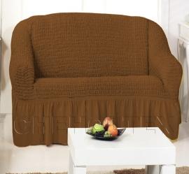 Чехлы на диваны (2х-местные) - Чехол на 2-х местный диван, цвет кофе