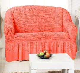 Чехлы на диваны (2х-местные) - Чехол на 2-х местный диван, цвет коралловый