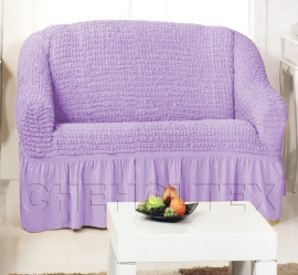 Чехлы на диваны (2х-местные) - Чехол на 2-х местный диван, цвет лиловый