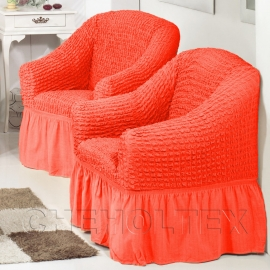Чехлы на кресла - Чехол на кресло, цвет коралловый
