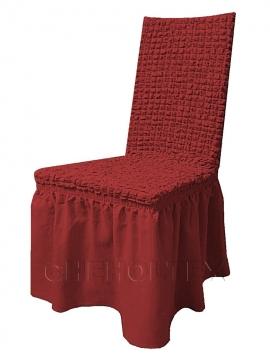 - Чехол на стул, цвет бордовый
