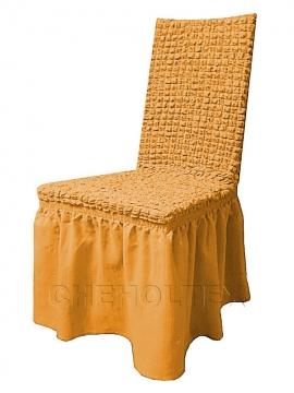 Чехлы на стулья - Чехол на стул, цвет горчичный