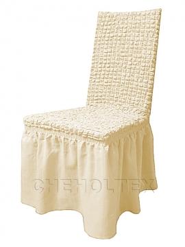 - Чехол на стул, цвет слоновая кость