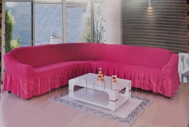 - Чехол на угловой диван, цвет фуксия
