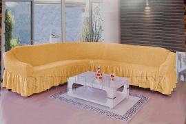 - Чехол на угловой диван, цвет медовый