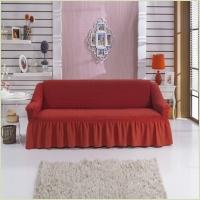 - Чехол на 3-х местный диван, цвет бордовый