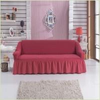 - Чехол на 3-х местный диван, цвет коралловый