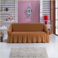 - Чехол на 3-х местный диван, цвет горчичный