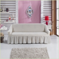 - Чехол на 3-х местный диван, цвет кремовый
