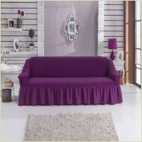 - Чехол на 3-х местный диван, цвет лиловый