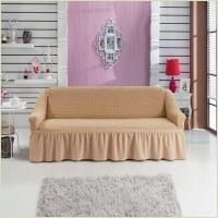 - Чехол на 3-х местный диван, цвет бежевый