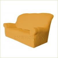 - Чехол Модерн на 3-х местный диван, цвет Горчичный