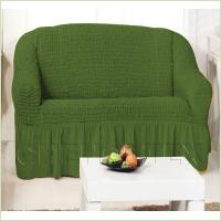 Чехлы на диваны (2х-местные) - Чехол на 2-х местный диван, цвет зеленый