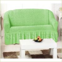 - Чехол на 3-х местный диван, цвет фисташковый