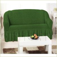 - Чехол на 3-х местный диван, цвет зеленый