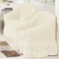 Чехлы на кресла - Чехол на кресло, цвет кремовый
