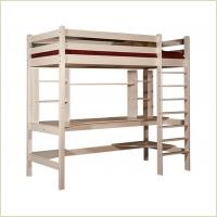 Мебель для детской - Кровать верхнеярусная со столом №3 (массив сосны)