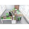 """Мебель для сотрудников """"PROFIQUADRO"""", цвет — орех ногаро / белый премиум"""