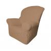 Чехлы на кресла - Чехол Модерн на кресло, цвет Кофе с молоком