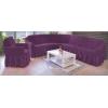 - Чехол на угловой диван, цвет фиолетовый (слива)