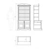 Мебель для детской - Стеллаж С701А (массив сосны)