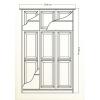 Мебель для спальни, кровати - Шкаф 021 с зеркалами