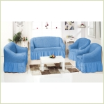 - Комплект чехлов однотонных, цвет голубой