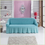 - Чехол на 3-х местный диван, цвет голубой
