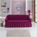 - Чехол на 3-х местный диван, цвет фиолетовый (слива)