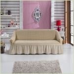 Чехлы на диваны ( 3х-местные) - Чехол на 3-х местный диван, цвет слоновая кость