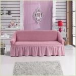 - Чехол на 3-х местный диван, цвет Светло-розовый