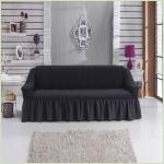 - Чехол на 3-х местный диван, цвет Темно-серый