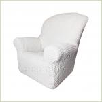 Чехлы на кресла - Чехол Модерн на кресло, цвет Кремовый