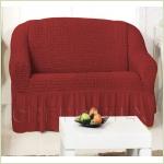 - Чехол на 2-х местный диван, цвет бордовый