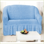 - Чехол на 2-х местный диван, цвет голубой