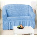 Чехлы на диваны (2х-местные) - Чехол на 2-х местный диван, цвет голубой