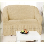 - Чехол на 2-х местный диван, цвет какао