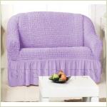 - Чехол на 2-х местный диван, цвет лиловый