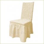 Чехлы на стулья - Чехол на стул, цвет слоновая кость