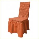 Чехлы на стулья - Чехол на стул, цвет терракот