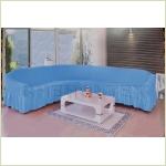 - Чехол на угловой диван, цвет голубой