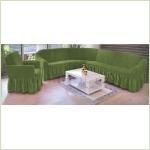 - Чехол на угловой диван, цвет зеленый