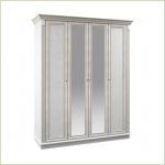 - Версаль СБ-2051 Шкаф 4-х дверный с зеркалами